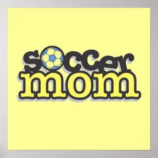 Camisetas y regalos de la mamá del fútbol posters