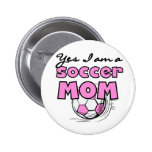 Camisetas y regalos de la mamá del fútbol pin