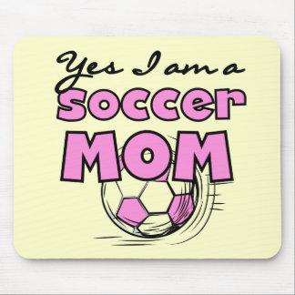 Camisetas y regalos de la mamá del fútbol tapete de raton