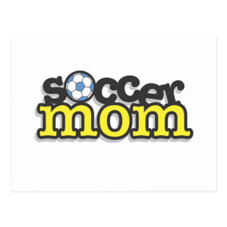 Camisetas y regalos de la mamá del fútbol tarjetas postales