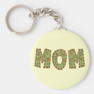 Camisetas y regalos de la mamá para ella llavero redondo tipo pin
