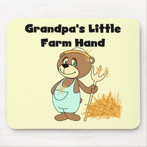 Camisetas y regalos de la mano de la granja del ab alfombrillas de ratones