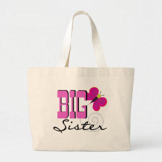 Camisetas y regalos de la mariposa de la hermana g bolsa tela grande