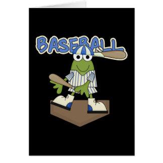 Camisetas y regalos de la meta del béisbol de la r tarjeta de felicitación