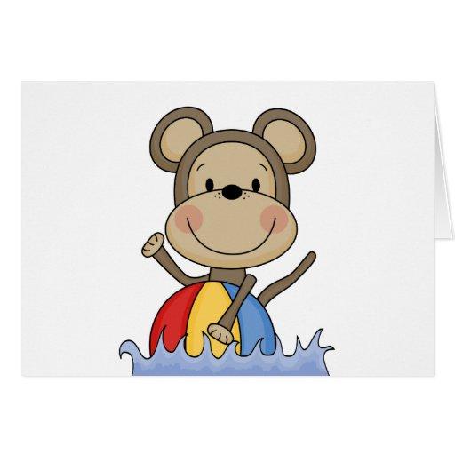 Camisetas y regalos de la natación del mono de la  felicitaciones