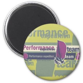 Camisetas y regalos de la navegación del equipo de imán redondo 5 cm