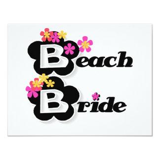 Camisetas y regalos de la novia de la playa de las invitación 10,8 x 13,9 cm