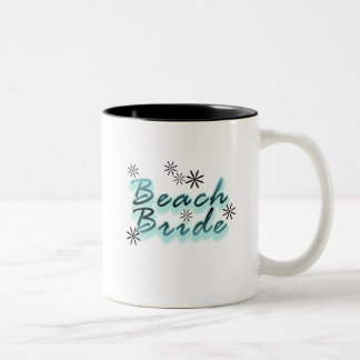 Camisetas y regalos de la novia de la playa del taza de dos tonos