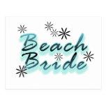 Camisetas y regalos de la novia de la playa del tr tarjetas postales