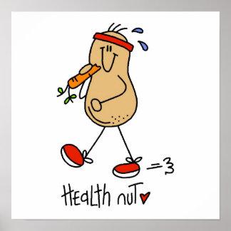 Camisetas y regalos de la nuez de la salud póster