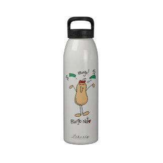 Camisetas y regalos de la nuez del bingo botella de beber