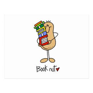 Camisetas y regalos de la nuez del libro postales