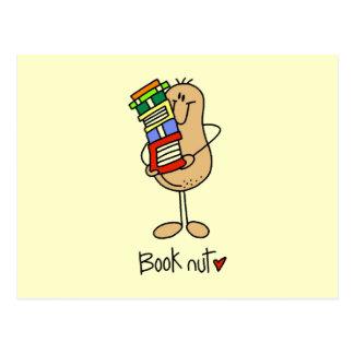 Camisetas y regalos de la nuez del libro tarjeta postal