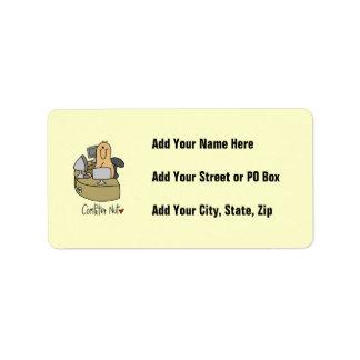 Camisetas y regalos de la nuez del ordenador etiqueta de dirección