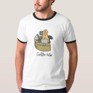 Camisetas y regalos de la nuez del ordenador polera