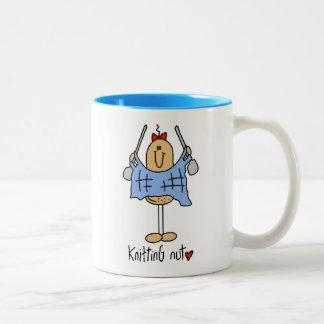 Camisetas y regalos de la nuez que hacen punto taza de café de dos colores