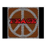 Camisetas y regalos de la paz de la pared de postal