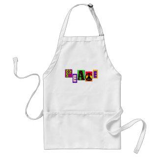 Camisetas y regalos de la paz de las letras de mol delantales