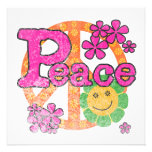 Camisetas y regalos de la paz del vintage invitación personalizada