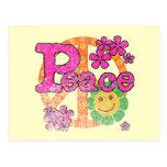 Camisetas y regalos de la paz del vintage tarjeta postal
