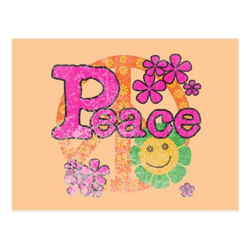 Camisetas y regalos de la paz del vintage tarjetas postales