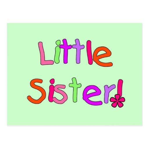 Camisetas y regalos de la pequeña hermana postal