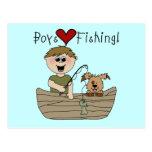 Camisetas y regalos de la pesca del amor de los mu postales