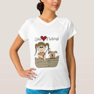 Camisetas y regalos de la pesca del amor de los poleras