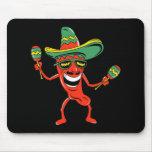 Camisetas y regalos de la pimienta de chile de Cin Tapetes De Ratones