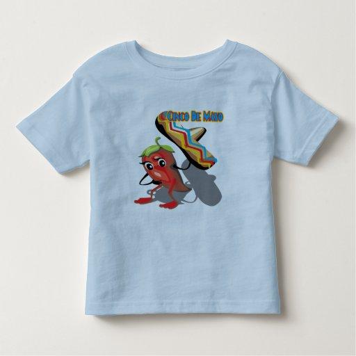 Camisetas y regalos de la pimienta roja de Cinco Playera