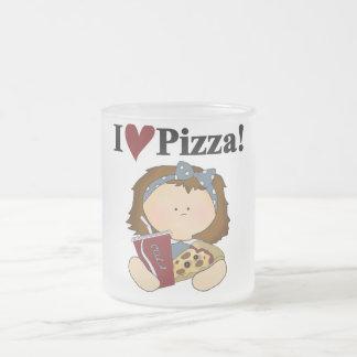 Camisetas y regalos de la pizza del amor del chica taza de café