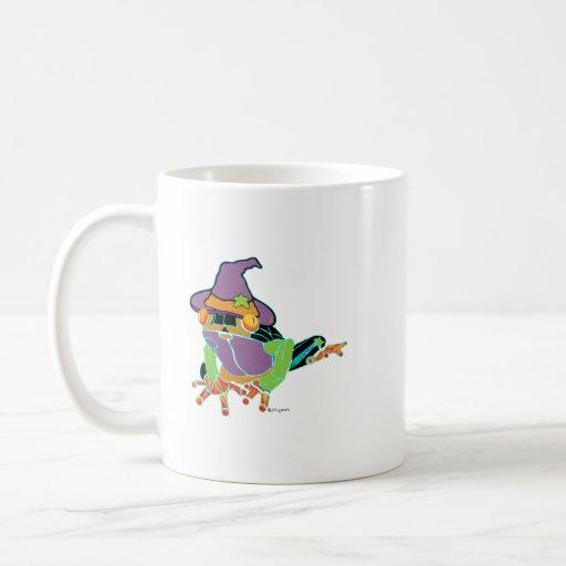 Camisetas y regalos de la rana arbórea de taza de café
