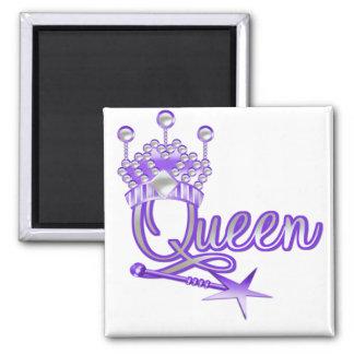 Camisetas y regalos de la reina imán cuadrado