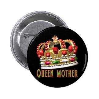 Camisetas y regalos de la reina madre para ella pin redondo de 2 pulgadas