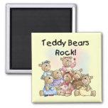 Camisetas y regalos de la roca de los osos de pelu imán de frigorífico
