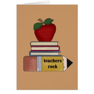 Camisetas y regalos de la roca de los profesores d tarjeta de felicitación