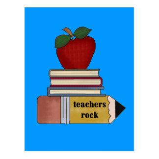 Camisetas y regalos de la roca de los profesores tarjetas postales