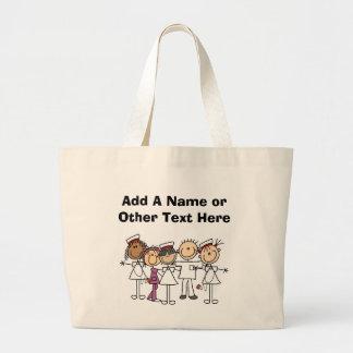 Camisetas y regalos de la semana de las enfermeras bolsa tela grande