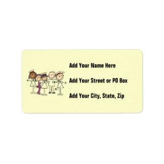 Camisetas y regalos de la semana de las enfermeras etiqueta de dirección