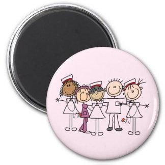 Camisetas y regalos de la semana de las enfermeras imán redondo 5 cm