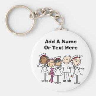 Camisetas y regalos de la semana de las enfermeras llavero redondo tipo pin