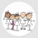 Camisetas y regalos de la semana de las enfermeras etiqueta redonda