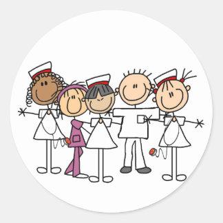 Camisetas y regalos de la semana de las enfermeras pegatina redonda