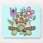 Camisetas y regalos de la tortuga de la primavera tapetes de raton