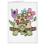 Camisetas y regalos de la tortuga de la primavera tarjetas