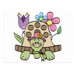 Camisetas y regalos de la tortuga de la primavera postal