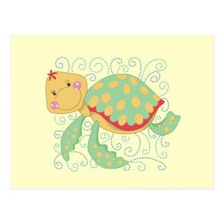 Camisetas y regalos de la tortuga de mar tarjetas postales