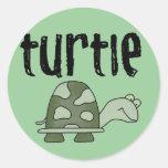 Camisetas y regalos de la tortuga pegatina redonda