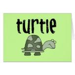 Camisetas y regalos de la tortuga tarjeta