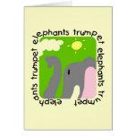 Camisetas y regalos de la trompeta de los elefante tarjetón